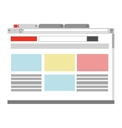 webpage with browser icon vector image