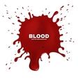 Red blood splatter grunge background vector image