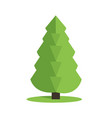 stylized low poly polygon green christmas tree vector image