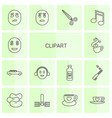 14 clipart icons vector image vector image
