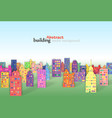 a 3d paper city skyline vector image
