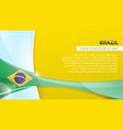 abstract flag brazil background vector image