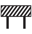barrier icon vector image vector image