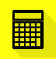 calculator simple sign black icon with flat style vector image vector image