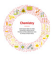chemical banner card circle vector image