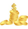 coins with dollar vector image