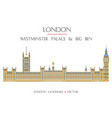 colorful london landmark 8 vector image