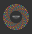 colorful triangles circle frame border vector image vector image