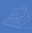 continuous line drawing cash register concept vector image