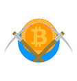 crypto mine farm icon vector image