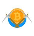 crypto mine farm icon vector image vector image