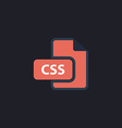 CSS computer symbol vector image