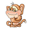 cute kind monkey character vector image vector image