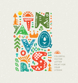 Cute letters vector image