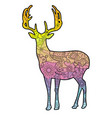 deer with transition colors vector image vector image