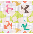 fabric with geometric shapes colorful wallpaper vector image vector image