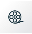 film reel outline symbol premium quality isolated vector image