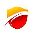 flaming wave guard modern shield symbol logo vector image vector image