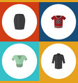 flat icon dress set of casual uniform t-shirt vector image vector image