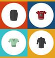 flat icon dress set of casual uniform t-shirt vector image