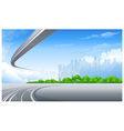 Freeway and City skyline vector image vector image
