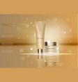 graceful cosmetic turquoise cream mask bottle iso vector image vector image