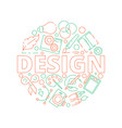 graphic design tools background print typography vector image