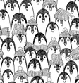 Graphic Seamless Pattern With Penguins vector image vector image