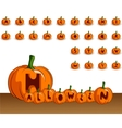 halloween alphabet vector image