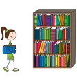 happy kid loves books vector image vector image