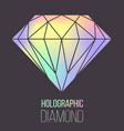 holographic diamond stone isolated vector image vector image