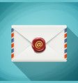 icon envelope with wax seal sign email vector image