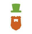 irish elf icon vector image vector image