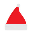 isolated santa claus hat icon vector image vector image