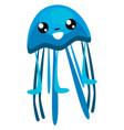 jellyfish with tentacles or color vector image vector image