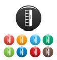 kitchen fridge icons set color vector image vector image