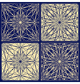 Lace pattern set vector image vector image