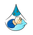 Little baby fast asleep in its cot vector image vector image