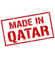 made in qatar stamp vector image vector image
