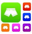 male underwear set color collection vector image vector image
