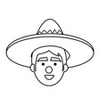 mexican man avatar character vector image vector image