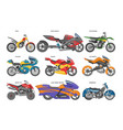 motorcycle motorbike motoring cycle ride vector image