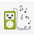 mp3 icon Kawaii and technology graphic vector image vector image