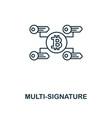 multi-signature outline icon monochrome style vector image vector image
