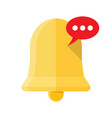 new notification icon hand bell sign isolated on vector image vector image