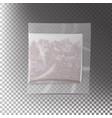 realistic tea bag teabag square shape vector image vector image