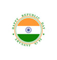 republic day india greeting banner is indian vector image