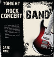 rock concert grunge background vector image vector image