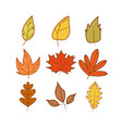 set of autumn theme cartoon design template vector image