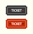 simple flat ticket symbol vector image vector image